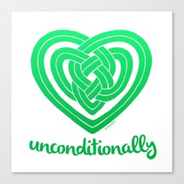 UNCONDITIONALLY in green Canvas Print