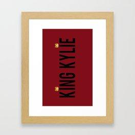 KING KYLIE - Mary Jo K Framed Art Print