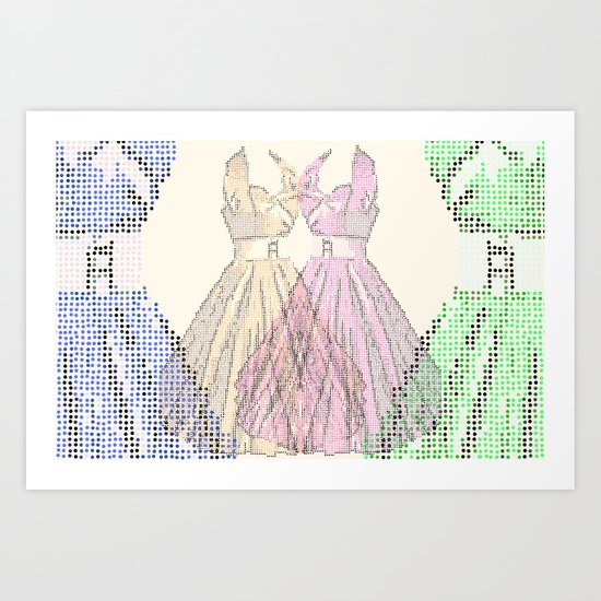 Dress multi coloured Art Print