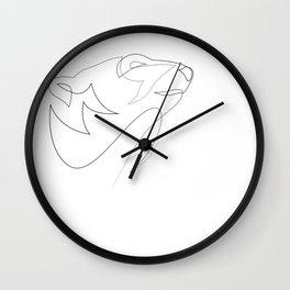 one line polar bear Wall Clock