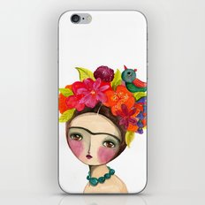 Frida And The Bird In Her Hair iPhone & iPod Skin