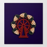 ferris bueller Canvas Prints featuring Ferris Wheel by Meghan Lueck