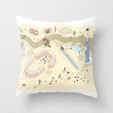 Dental Artifacts Throw Pillow