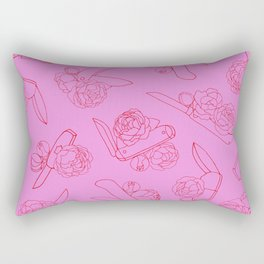 Peonies and Switchblades Rectangular Pillow