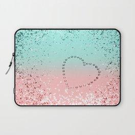 Summer Vibes Glitter Heart #1 #coral #mint #shiny #decor #art #society6 Laptop Sleeve