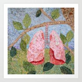 Biology: Lungs Art Print