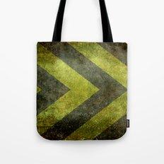 Warning Chevron #101 Tote Bag