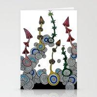 mushroom Stationery Cards featuring mushroom by SENGA