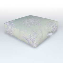 Frosty Day - Snowflakes Outdoor Floor Cushion