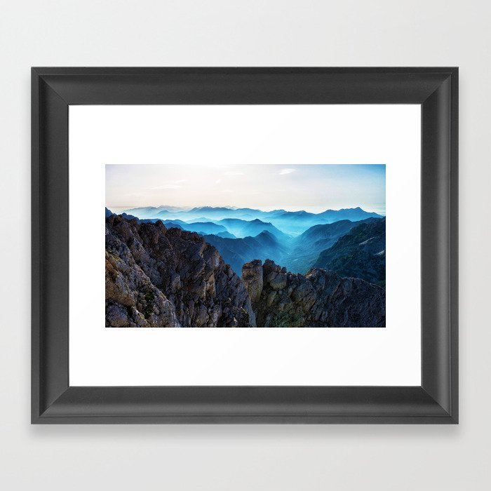 Mountains Breathe Too Framed Art Print