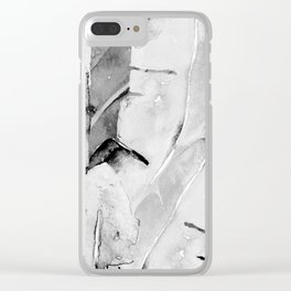 Banana Tree Leaves   Watercolor Black and White Clear iPhone Case