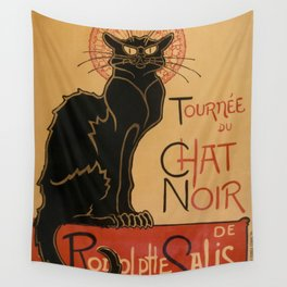 Le Chat Noir The Black Cat Poster by Théophile Steinlen Wall Tapestry