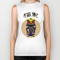 army Biker Tanks featuring Cat Army by BATKEI