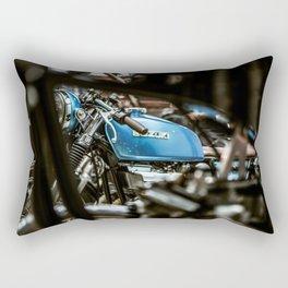 Szuki Blue Rectangular Pillow