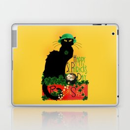St Patrick's Day - Le Chat Noir Laptop & iPad Skin