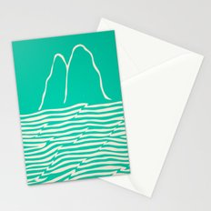 Sea Foam Waves Stationery Cards