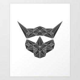 lowpolycybercat Art Print