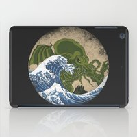 hokusai iPad Cases featuring Hokusai Cthulhu by Marco Mottura - Mdk7