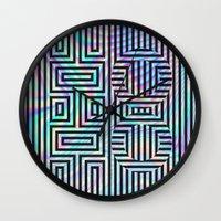 xoxo Wall Clocks featuring xoxo by Marta Olga Klara