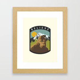 Bigfoot Patch Framed Art Print
