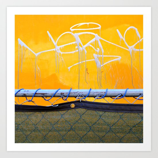 The other side of the fence Art Print