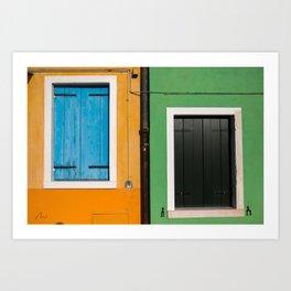 Burano Windows Art Print
