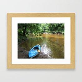 Peaceful Day Kayaking Framed Art Print