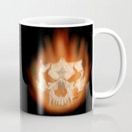 Flaming skull Coffee Mug