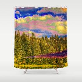 403 – Glitch-flipped Shower Curtain