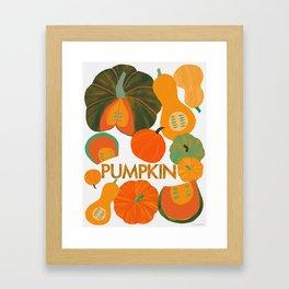 Eat Your Veggies - Pumpkin Framed Art Print