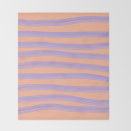 Blue lines Throw Blanket