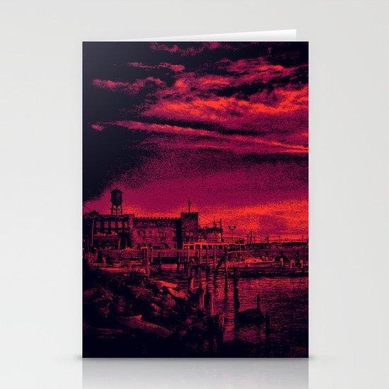 Sunset Over Bristol Harbor 3 Stationery Cards