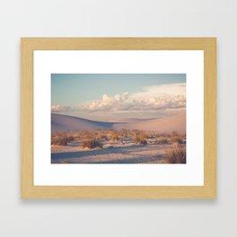 Desert Sunset Framed Art Print