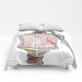 Antique vintage paper lantern drawing Comforters