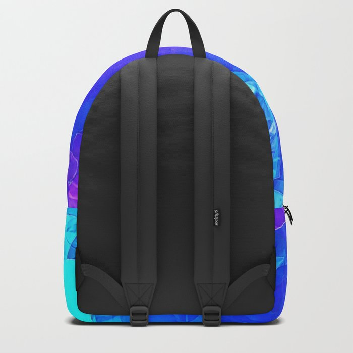 Textured Paper Overlay Backpack