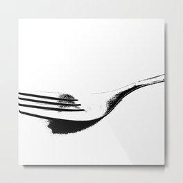Tenedor de perfil Metal Print