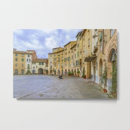Piazza Anfiteatro, Lucca City, Italy Metal Print