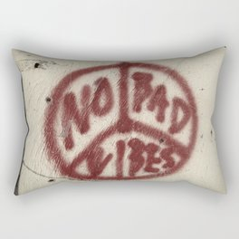 No Bad Vibes Rectangular Pillow