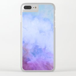 DREAMY RAINBOW CLOUDS Clear iPhone Case