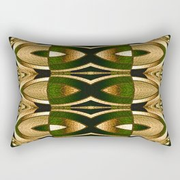Stained Glass Collection II Camouflaged Rectangular Pillow