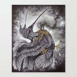 Smoke and Ashes Canvas Print