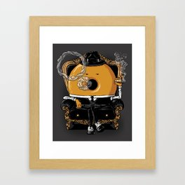 Gangster Donut Framed Art Print