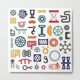 Industrial vector items Metal Print