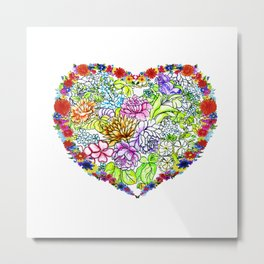 flowers in the heart ( https://society6.com/totalflora/collection ) Metal Print