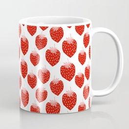 Strawberries - trendy fresh tropical fruit vegan vegetarian juice juicing cleanse Coffee Mug