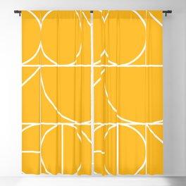 Modern Geometric 77 Yellow Blackout Curtain