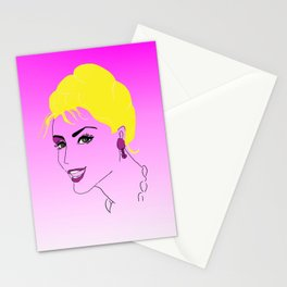 Old fashioned glamour, beauty - inspired by Audrey Hepburn Stationery Cards