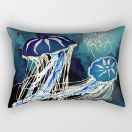 Metallic Jellyfish III Rectangular Pillow