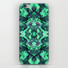 Abstract Surreal Chaos theory in Modern poison turquoise green iPhone Skin