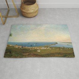 'Coastal Scene and Tidal Ponds' landscape by Gilbert Munger Rug